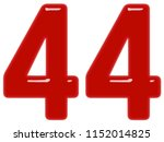 numeral 44  forty four ... | Shutterstock . vector #1152014825