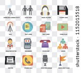 set of 16 icons such as maps...   Shutterstock .eps vector #1152015518