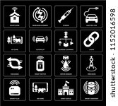 set of 16 icons such as smart... | Shutterstock .eps vector #1152016598