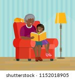 afro american grandmother and... | Shutterstock .eps vector #1152018905