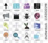 set of 16 icons such as... | Shutterstock .eps vector #1152020198