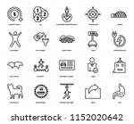 set of 20 icons such as gut ... | Shutterstock .eps vector #1152020642