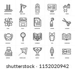 set of 20 icons such as diploma ...