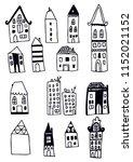 set of hand drawn buildings.... | Shutterstock .eps vector #1152021152