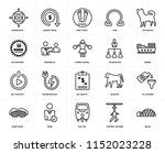 set of 20 icons such as igloo ...
