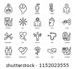 set of 20 icons such as... | Shutterstock .eps vector #1152023555
