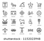 set of 20 simple editable icons ... | Shutterstock .eps vector #1152023948