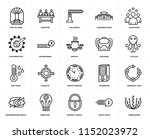 set of 20 simple editable icons ... | Shutterstock .eps vector #1152023972