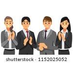 business people congratulations.... | Shutterstock .eps vector #1152025052