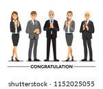 business people congratulation  ... | Shutterstock .eps vector #1152025055