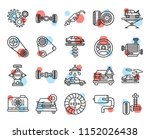 set of 20 icons such as... | Shutterstock .eps vector #1152026438