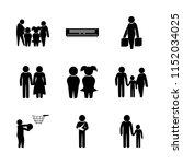 summer vector icons set. father ... | Shutterstock .eps vector #1152034025