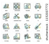 set of 16 icons such as chess ... | Shutterstock .eps vector #1152037772