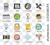 set of 16 icons such as touch...   Shutterstock .eps vector #1152038195