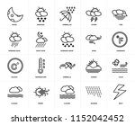 set of 20 icons such as bolt ...