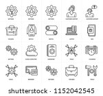 set of 20 icons such as tools ...