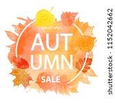 autumn leaf foliage watercolor .... | Shutterstock . vector #1152042662
