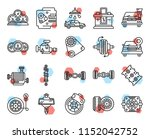 set of 20 icons such as fan ... | Shutterstock .eps vector #1152042752