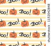 cute halloween seamless vector...   Shutterstock .eps vector #1152042848