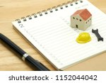 house models and equipment... | Shutterstock . vector #1152044042