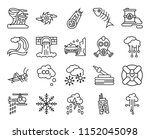 set of 20 icons such as hail ...
