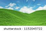landscape green grass field and ... | Shutterstock . vector #1152045722