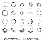 set of 20 icons such as loading ... | Shutterstock .eps vector #1152047468