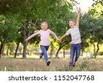 cute little children having fun ... | Shutterstock . vector #1152047768