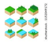 isometric forest landscape... | Shutterstock .eps vector #1152049172