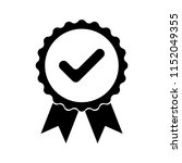 black icon approved or... | Shutterstock .eps vector #1152049355