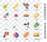 set of 16 icons such as... | Shutterstock .eps vector #1152056615