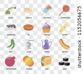 set of 16 icons such as sushi ... | Shutterstock .eps vector #1152056675