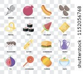 set of 16 icons such as pasta ... | Shutterstock .eps vector #1152056768