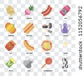 set of 16 icons such as milk ... | Shutterstock .eps vector #1152056792