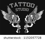 tattoo studio machines | Shutterstock .eps vector #1152057728