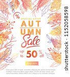 autumn special offer banner... | Shutterstock .eps vector #1152058598