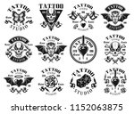 tattoo studio set of twelve... | Shutterstock .eps vector #1152063875