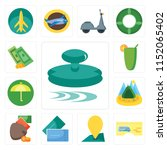 set of 13 simple editable icons ... | Shutterstock .eps vector #1152065402