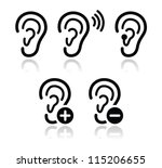 ear hearing aid deaf problem... | Shutterstock .eps vector #115206655