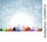 christmas card | Shutterstock .eps vector #115206712