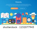 vector trendy flat gradient... | Shutterstock .eps vector #1152077945