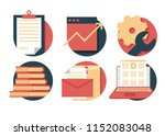 business icon pack  with three...
