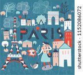 paris. france. print design | Shutterstock .eps vector #1152086072