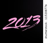 New Year 2013 Lettering....