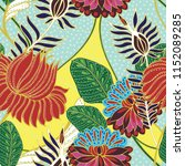 elegance pattern with flowers... | Shutterstock .eps vector #1152089285