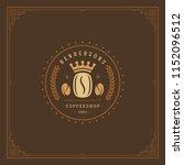 coffee shop logo design... | Shutterstock .eps vector #1152096512