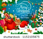 christmas winter holiday... | Shutterstock .eps vector #1152105875