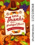 thanksgiving day autumn holiday ... | Shutterstock .eps vector #1152108368