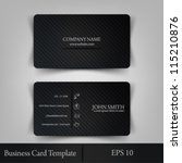eps10 vector illustration abstract elegant business card template | Shutterstock vector #115210876