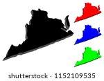 3d map of virginia  united...   Shutterstock .eps vector #1152109535